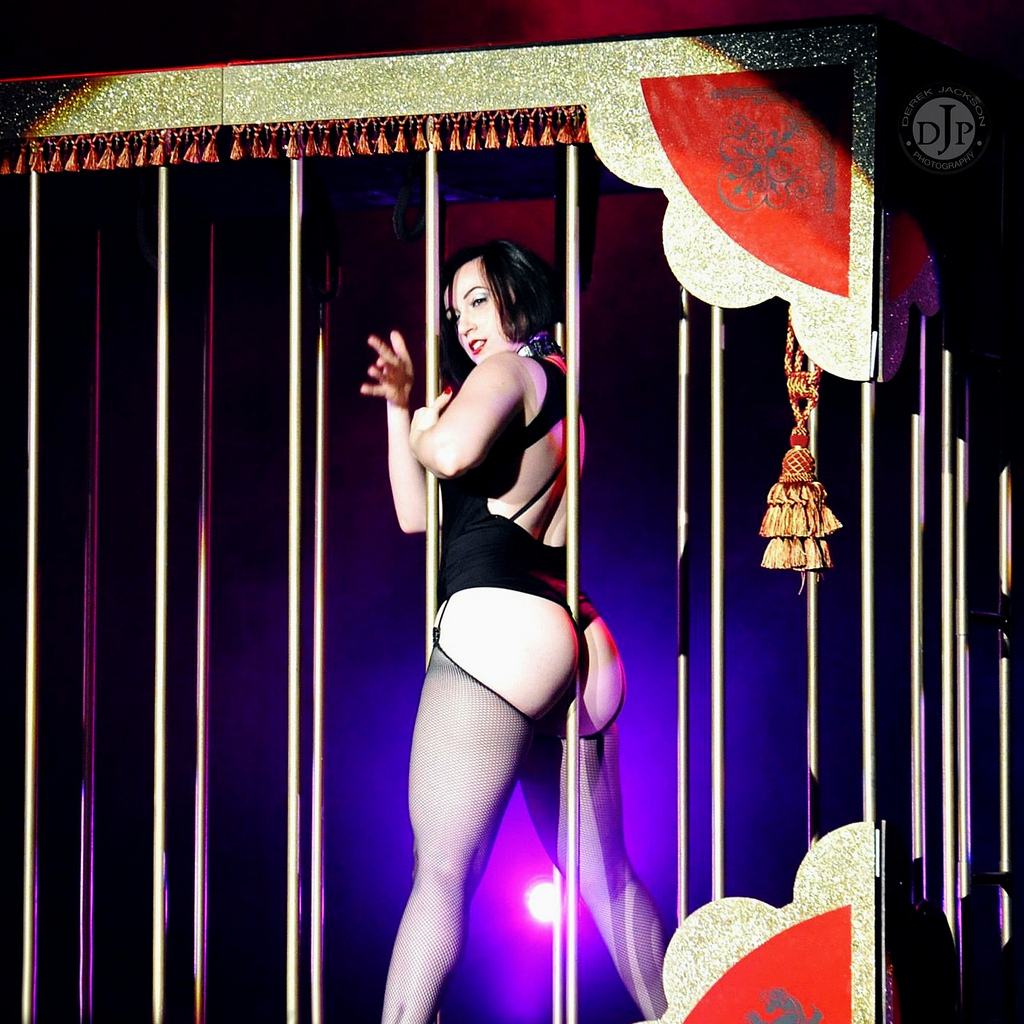 Michelle Lamour burlesque adult perfomer